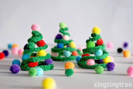 pipe cleaner trees decoration