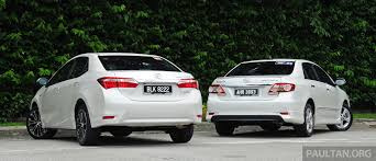 toyota altis gallery old and new toyota corolla altis compared image 222545