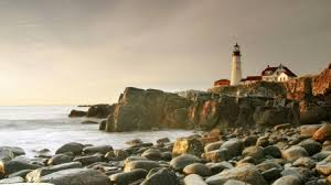 rocky shore wallpapers lighthouse on rough rocky shore in portland maine lighthouses