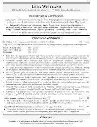 hospital administration sample resume haadyaooverbayresort com