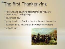 thanksgiving in the usa ppt