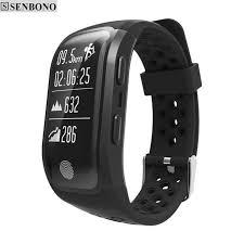heart monitoring bracelet images Senbono s908 bluetooth gps tracker wristband ip68 waterproof smart jpg