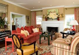 living room nice floral wallpaper living room design with mirror