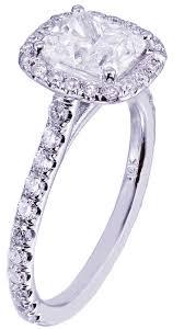 cushion cut diamond engagement rings gia h si1 14k white gold cushion cut diamond engagement ring halo