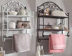 dessiner salle de bain etagère murale porte serviette motif feuillage becquet