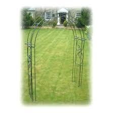 kensington metal garden arch with gates garden xcyyxh com