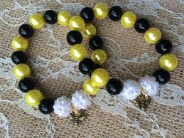 party favor bracelets set of 6 bumble bee party favor bracelets bumble bee charm