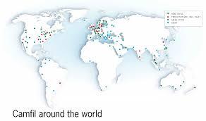 Denmark On World Map by Camfil Around The World Camfil