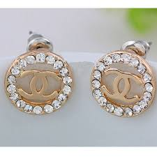 cc earrings diamond cc earrings small gold