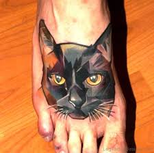 54 dazzling cat tattoos on foot