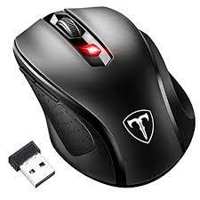 souris bureau topelek 2 4g souris sans fil avec récepteur nano 6 boutons 2400 dpi