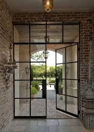 Steel Exterior Doors With Glass Metal Doors With Glass Industrial Front Doors Best 25 Glass Doors