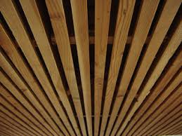 Unfinished Basement Ceiling by Wood Slat Solution For Basement Ceiling I Recently Showed A Home