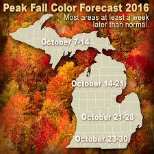 Michigan Weather Map by When Michigan Fall Colors Will Peak In 2016 Mlive Com