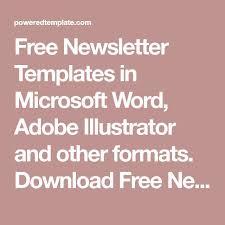 25 melhores ideias de newsletter templates word no pinterest
