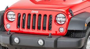 rugged ridge pivotal headlight guard set for 07 17 jeep wrangler