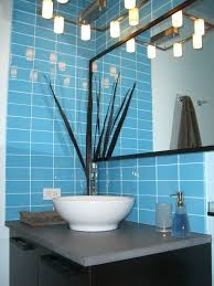 Blue Ceramic Floor Tile Bathrooms Design Subway Tile Kitchen Brick Style Tiles Cream