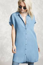 chambray shirt dress forever 21 2000190137
