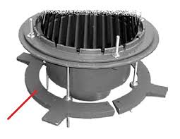 large area roof drain cast dam ud clamp sump rec select outlet