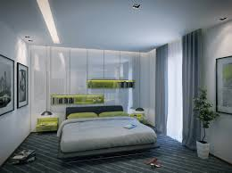 indoor modern apartment bedroom design boasts a dramatic use of