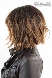 trendy hair highlights layered messy bob hairstyle 2016