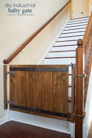 Baby Gates For Top Of Stairs With Banisters Industrial Diy Baby Gate Diy Baby Gate Baby Gates And Diy Baby