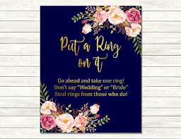 what do you put on a bridal shower registry navy gold boho put a ring on it bridal shower printable