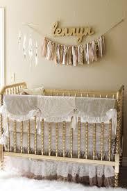 Bedding For A Crib Girly Gold Nursery Lind Crib Nursery And Crib