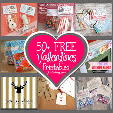 list of free valentine u0027s printable cards banners bag toppers