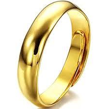 wedding rings uk jewelrywe 5mm high polished yellow gold tone adjustable