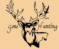 keeping safe during hunting season mike riehl s roseville items similar to gone hunting removable wall decal on etsy