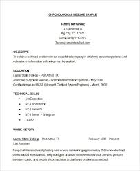 chronological resumes chronological resume format