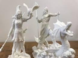 greek gods statues set of 2 poseidon athena greek gods statue sculpture white we