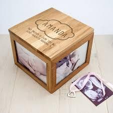 keepsake box baby name in cloud oak photo keepsake box treat republic