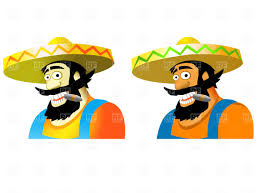 cartoon sombrero mexican in sombrero vector clipart image 1850 u2013 rfclipart