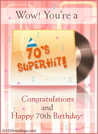 70th Birthday Cards A 70th Birthday Wish Free Milestones Ecards Greeting Cards 123