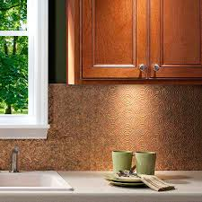 traditional kitchen decor with awesome lotus pattern copper tile