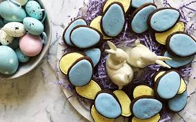 speckled easter eggs speckled easter egg cookies recipe
