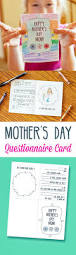 mother u0027s day questionnaire card printable lil u0027 luna
