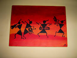 These Kinds Of Colorful Warli Figures Look Amazingly Modern And