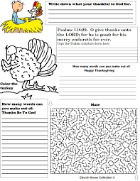 church house collection thanksgiving activity sheet