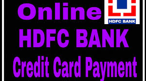 how to make online hdfc bank credit card payment credit card ka