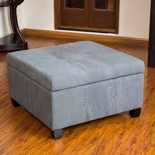 round fabric storage ottoman coffee table wooden furniture made by