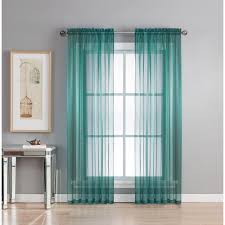 Sheer Teal Curtains Window Elements Sheer Sheer Voile Wide 84 In L Rod