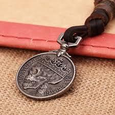 silver coin pendant necklace images Antique skull coin pendant necklace luxxessories jpg