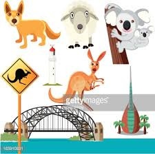 australian symbols vector getty images