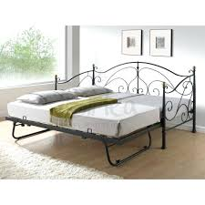white metal frame daybed with trundle tag white trundle daybed