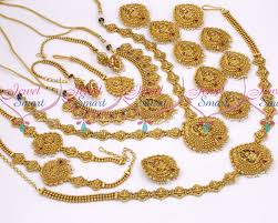 wedding gold set br10359 nagas south indian temple gold jewellery inspired