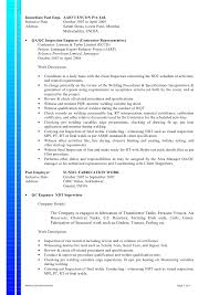 Pharmaceutical Quality Control Resume Sample by Qa Qc Inspector Cv Sample Contegri Com