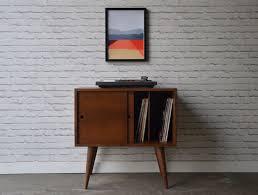 Record Storage Cabinet Record Storage Cabinet Mid Century Modern Inspired